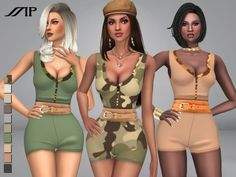 The Sims Resource: Body Shaping Romper by MartyP • Sims 4 Downloads