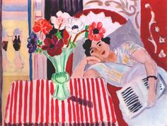 Reclining Woman with Anemones. 1937. Henri Matisse