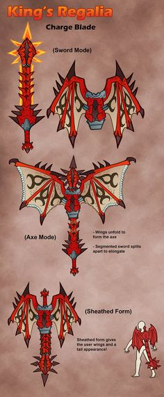 MH4U- Charge Blade- King's Regalia by Hakuramen on DeviantArt