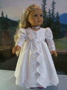 Regency, White Gown with Interchangable Sashes for Caroline, by drommer0 via eBay end 2/18/14pm Bid $44.00
