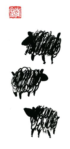 Year of the Sheep for the Chinese New Year Zodiac 2015 by ZenBrush ...take 10% off use the code Pin10zen