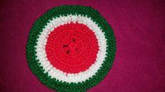 Tapete de sandía a crochet | Manualidades