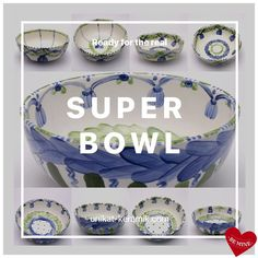 Waiting for Super Bowl 😉 Super Bowl, Waiting, Hand Painted, House Design, Plates, Unique, Tableware, Interior, Tablewares
