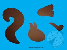 Squirrel made with pine cone and colored cards. - Squirrel made with pine cone and colored cards. Fall Crafts, Diy And Crafts, Crafts For Kids, Projects For Kids, Art Projects, Carnival Crafts, Cork Art, Applique Templates, Preschool Art