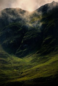 """Descending Clouds"" by John Barker  Glencoe, Scotland"