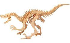 Big Velociraptor Dinosaur  wooden 3D puzzle by WholesaleCorner