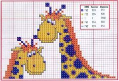 girafas em ponto cruz - Pesquisa Google