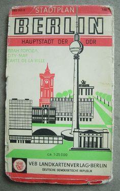 Berlin DDR - city map - late 70s by LimitedExpress, via Flickr Repinned by www.gorara.com