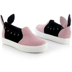 Amazon.com   Comfy Pink Glitter Girl Cute-To-The-Core Bunny Ear... (€33) ❤ liked on Polyvore featuring shoes, sneakers, slip-on shoes, platform shoes, platform sneakers, slip-on sneakers and pink platform sneakers