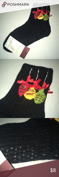 Cute Holiday ornament Gripper socks brand new Cute Holiday ornament Gripper socks brand new. Adorable gift.  Perfect for a gift basket legend Other