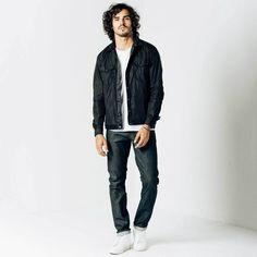 338533ab Dstld Mens Skinny Slim Raw Jeans In Selvedge Indigo Grey - 32 28 Gray