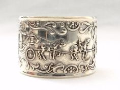 Antique Vintage 835 Silver Napkin Ring - Dutch Silver - The Golden Carriage Ornament at VintageArtAndCraft