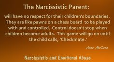 The Narcissistic Parent – Narcissistic and Emotional Abuse