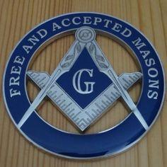 "Masonic Decal Silver 3.5/"" Logo FreeMason Car Black laptop Freemasonry Sticker"