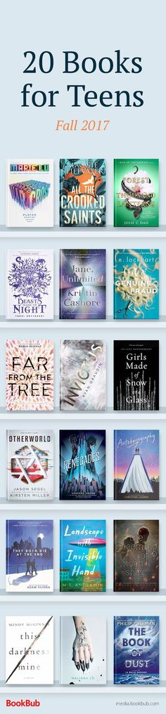 20 of the best books for teens out in 2017, including life changing books for boys and girls. These recommended books feature romance, mystery, fantasy, and more.