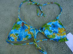 TANGO-ROSE-2pc-Blue-Tropical-XSmall-Bikini-Top-amp-Small-Bikini-Bottoms-Swimsuit