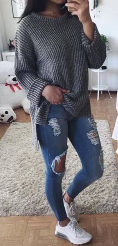 How to wear knits eigentijdse college outfits, casual winter outfits, winter mode outfits, Fall College Outfits, Preppy Outfits, Casual Winter Outfits, Mode Outfits, Fall Outfits, Summer Outfits, Fashion Outfits, College Wear, Womens Fashion