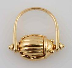 18k Tiffany & Co. Scarab Ring.