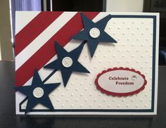 Celebrate Freedom Mom Cards, Cute Cards, Holiday Cards, Christmas Cards, Military Cards, Star Cards, Stamping Up Cards, Handmade Birthday Cards, Paper Cards