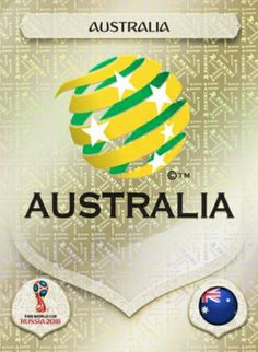Australia crest card for the 2018 World Cup Finals. England World Cup 2018, World Cup Russia 2018, Fifa Football, World Football, America Album, Mens World Cup, Word Cup, Match Of The Day, Australian Football