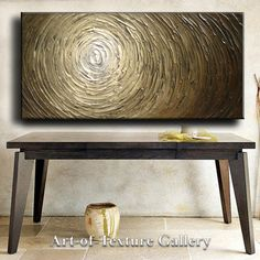 52 x 26 Custom Original Abstract Heavy Texture Brown Beige White Neutral Carved Oil Painting by Je Hlobik. $178.99, via Etsy.