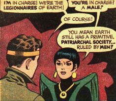 Primitive patriarchy (Adventure Comics #368, 1968, by Jim Shooter & Curt Swan, inked by George Klein)