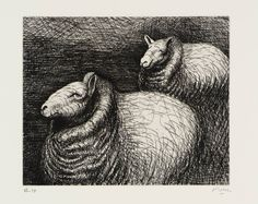 Henry Moore OM, CH, 'Ready for Shearing' 1974