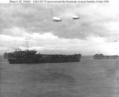 Picture of landing ships carrying troops of the Infantry Regiment, Infantry Division toward the north coast of France on D-Day. D Day Normandy, Normandy Beach, Places In Florida, Carrabelle Florida, 4th Infantry Division, D Day Landings, Military Units, Pearl Harbor, World War Two