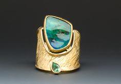 Marne Ryan, Boulder Opal/Tsavorite Ring