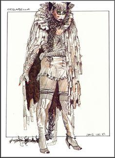 Grizabella costume design - London, 1981