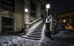 """Mitte """"Middle"""" section of Berlin, taken on 1/6/2015 after Berlin had its first snow for the season. Almira Kljuco Photography"""