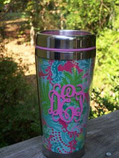 I think all of the Lilly Pulitzer by Lifeguard Press cups, tumblers, trays and more would look marvelous with a monogram.