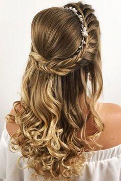 Wedding Curls, Diy Wedding Hair, Wedding Hair Down, Trendy Wedding, Wedding Dresses, Wedding Makeup, Wedding Braids, Perfect Wedding, Undercut Hairstyles