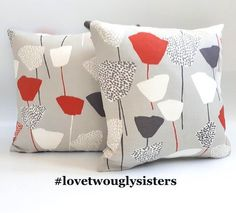 Your place to buy and sell all things handmade Geometric Cushions, Floral Cushions, Modern Cushions, Grey Cushions, Grey Tote Bags, Fabric Storage Baskets, Gorgeous Fabrics, Cushion Pads