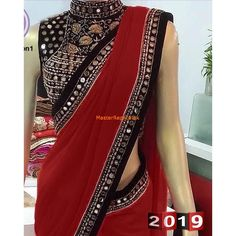 Fancy Designer Chiffon Saree Collection Master Replica 2019 We bring you this Most Liked Master Replica from the Latest Designer Saree Collection Fabric: Chiffon (Unstitched) Fully Embroidered Silk Fr Half Saree Designs, Fancy Blouse Designs, Saree Blouse Designs, Designer Sarees Collection, Latest Designer Sarees, Saree Collection, Designer Party Wear Dresses, Party Wear Indian Dresses, Indian Gowns Dresses