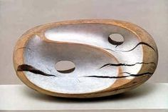 Barbara Hepworth. Tides I (1946). Partially painted wood (holly) Hepworth was one of the foremost British artists of the twentieth Century and is internationally acclaimed as one of the major sculptors of her time. (information from the Tate Gallery website)