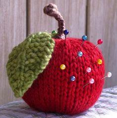 Apple pincushion / toy / rattle