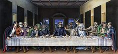 Last Supper by MonsterbatoryWorld on Etsy, $70.00