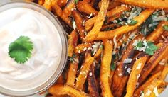 Baked Sweet Potato French Fries with Parmesan & Cilantro   noGuilt Nutrition