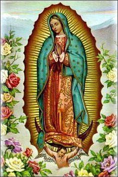 Patrones Virgen de Guadalupe en punto de cruz - Imagui
