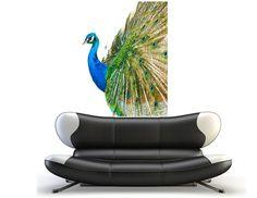 Wall Decal Peacock Bird Feathers Vinyl Sticker Room Tattoo Decor Beautiful home