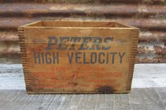 Antique Wooden Crate Peters Dupont Cartridge by TheOldTimeJunkShop, $65.00