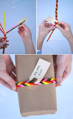 pipe cleaner gift wrappers