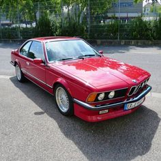 Red stunner supplied by private owner: This 1985 BMW M 635 CSi is powered by a 3.4 liter 6-cylinder engine with manual 5-speed transmission, producing admirable 286hp. It's finished in the shade of cinnabar red and shows of a black leather interior. Like & subscribe now for more classics! Bmw 635 Csi, 5 Speed Transmission, Bmw 6 Series, Bmw Classic Cars, Bmw Models, It's Finished, Rear Brakes, Leather Interior, Colorful Interiors