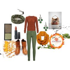 """""""Greens and Ochre"""" by martha-hill-carter on Polyvore"""