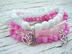 Stretch Bracelet Set. 3 Stackable Bracelets in by BeJeweledByCandi, $34.50