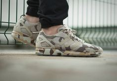 adidas ZX Flux Brown/Hemp Camo: A twist on traditional camo. Latest Sneakers, New Sneakers, Adidas Zx Flux Camo, Hypebeast, Yeezy, Arkk Copenhagen, Baskets, New Sneaker Releases, Adidas Camouflage