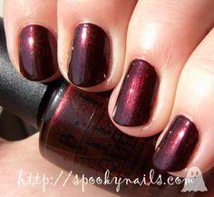 OPI Royal Rajah Ruby - Chanel Malice dupe