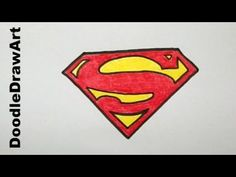 http://www.youtube.com/user/DoodleDrawArt Watch in HD: How to draw the superman logo. How to Draw|Drawing|cartoon|cartoon pictures|DoodleDrawArt|Learn To Dra...