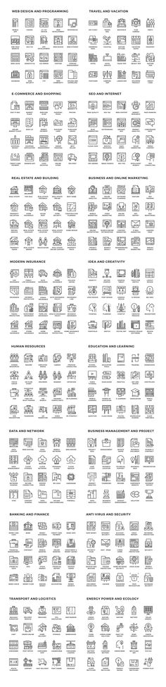 Smart line Icons Collection on Behance